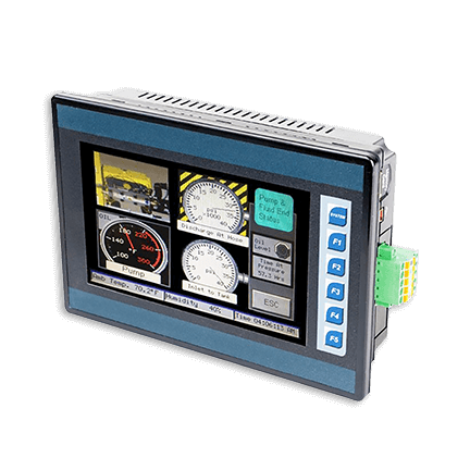 Integrated PLC, HMI, Touchscreen